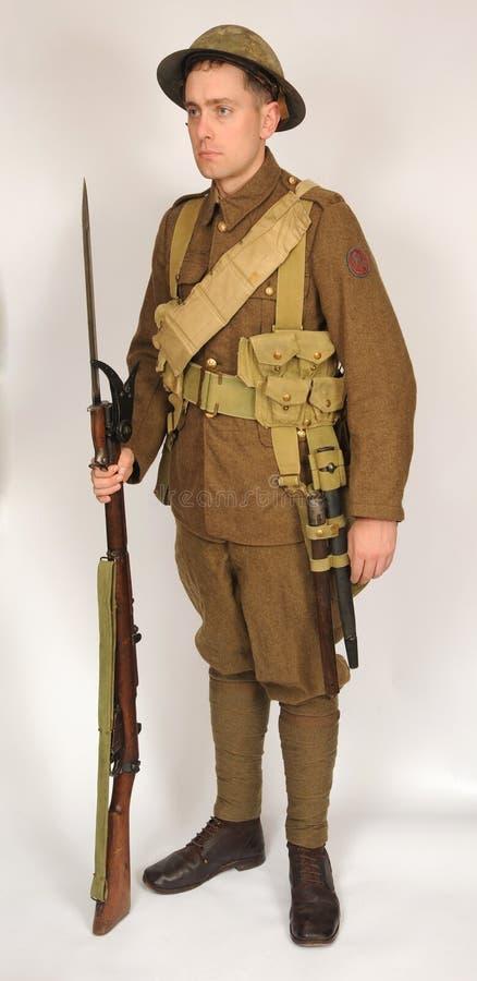 Großer Kriegs-königlicher Marineabteilungsseemann 1917 stockbild