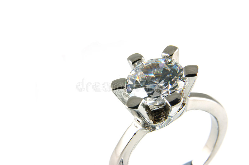 Großer Kristallring stockfotos
