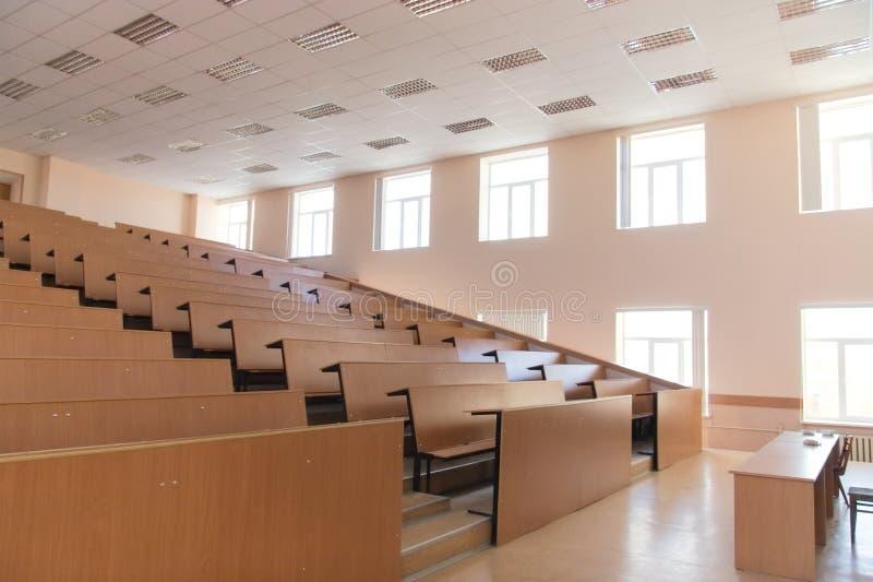 Großer leerer moderner Vorlesungssal lizenzfreies stockfoto