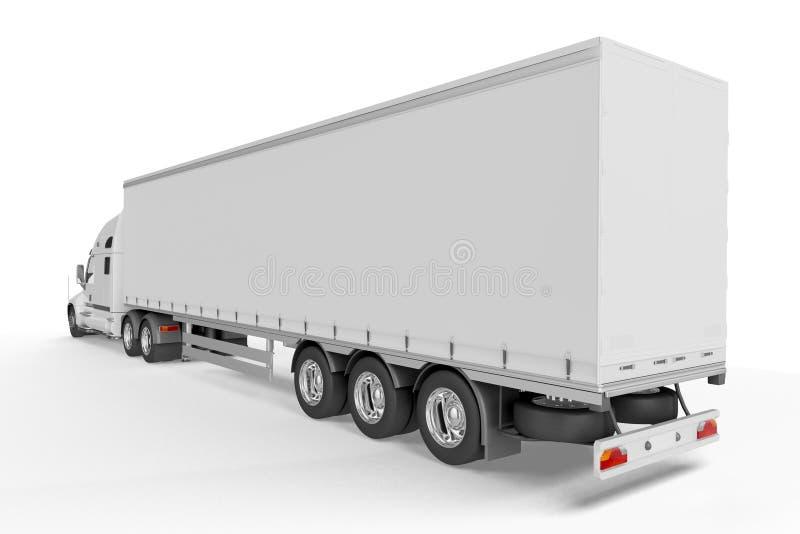 Großer LKW-Anhänger - auf weißem Hintergrund lizenzfreie abbildung