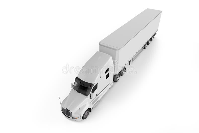 Großer LKW-Anhänger - auf weißem Hintergrund vektor abbildung