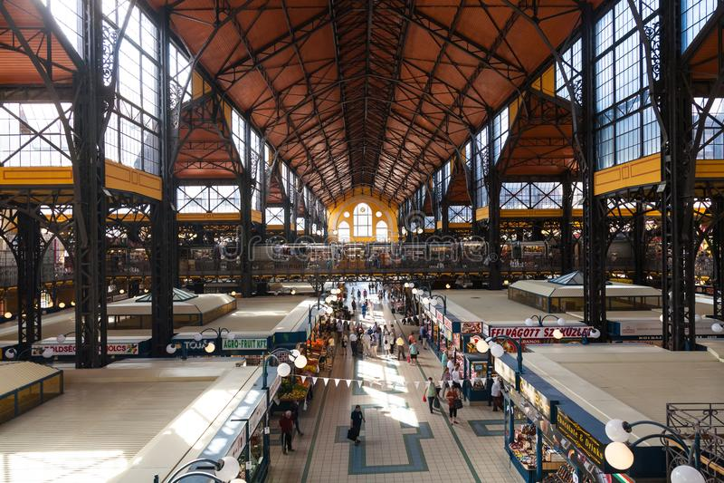 Großer Markt Hall, Budapest lizenzfreie stockfotos