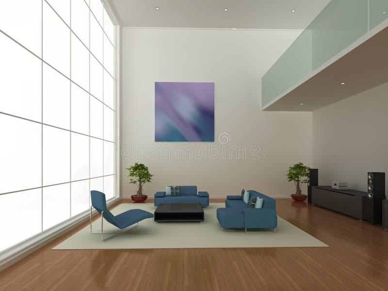 Großer moderner Innenraum lizenzfreie abbildung