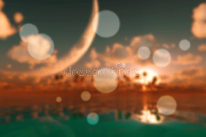 Großer Mond in den Wolken vektor abbildung