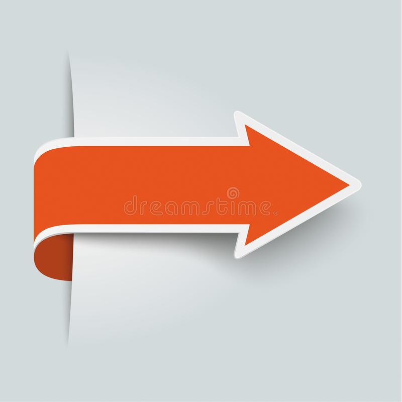 Großer orange Pfeil stockbilder