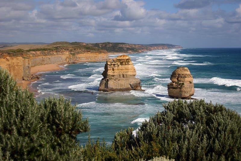 Download Großer Ozean-Straßen-Meerblick Stockbild - Bild von shoreline, groß: 856901