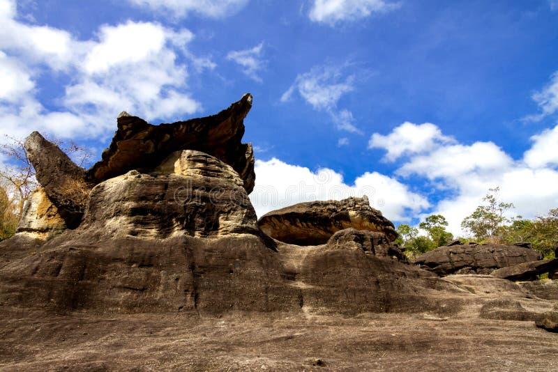 Großer Pilzstein stockbild