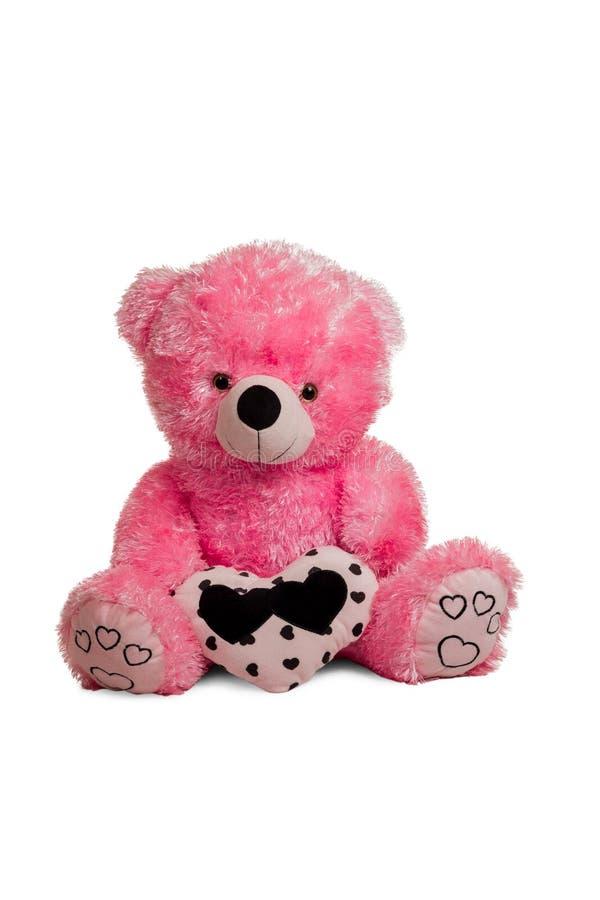 Großer rosa Teddybär lizenzfreies stockfoto