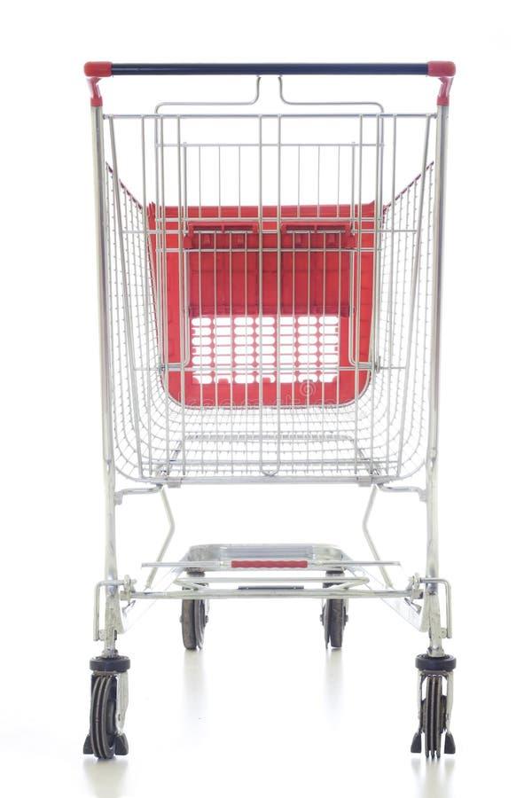 Großer roter Einkaufswagen lizenzfreie stockfotografie