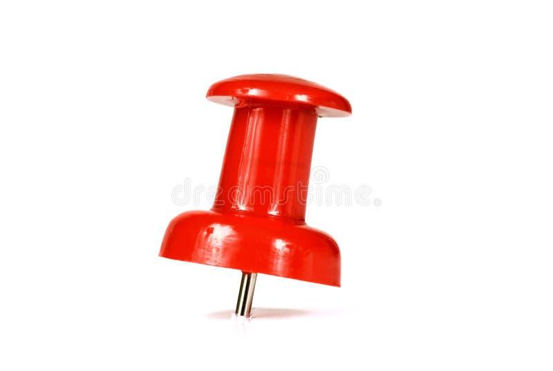 Großer roter Stoß Pin Isolated On White lizenzfreie stockbilder