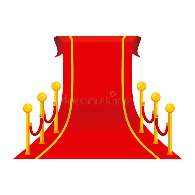 Großer roter Teppich lizenzfreie abbildung