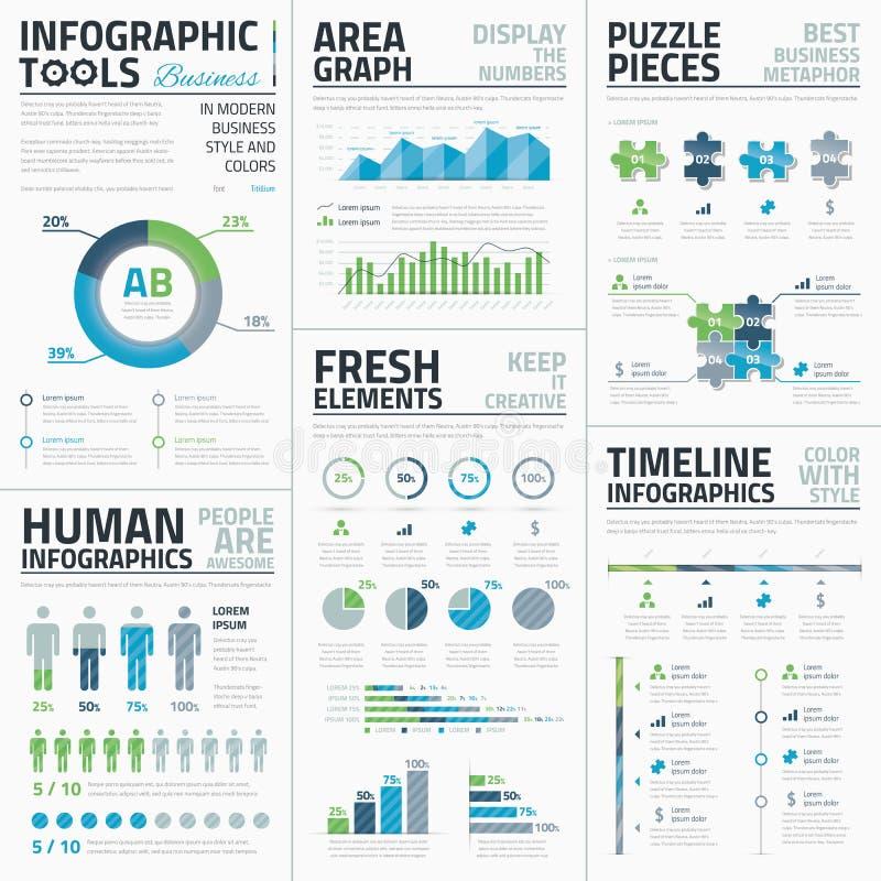 Großer Satz ehrfürchtige infographic Vektorelemente für vektor abbildung