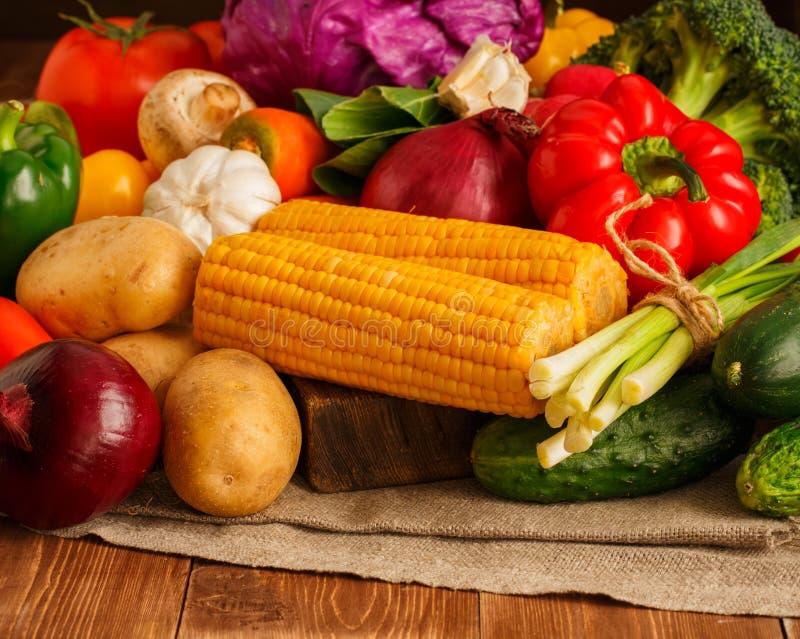 Großer Satz Gemüse stockfoto