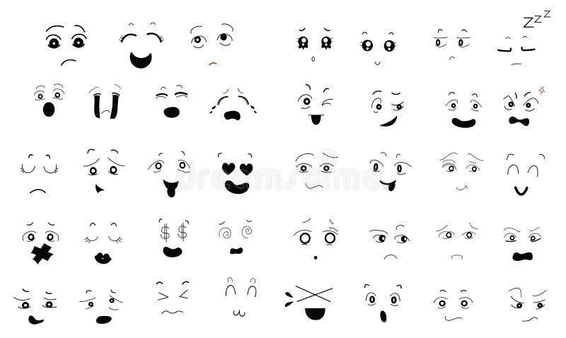 Großer Satz nette Gesichts-Ausdrücke vektor abbildung