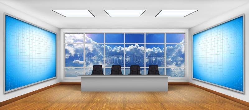 Großer Schirm des freien Raumes zwei Fernseh stockbild