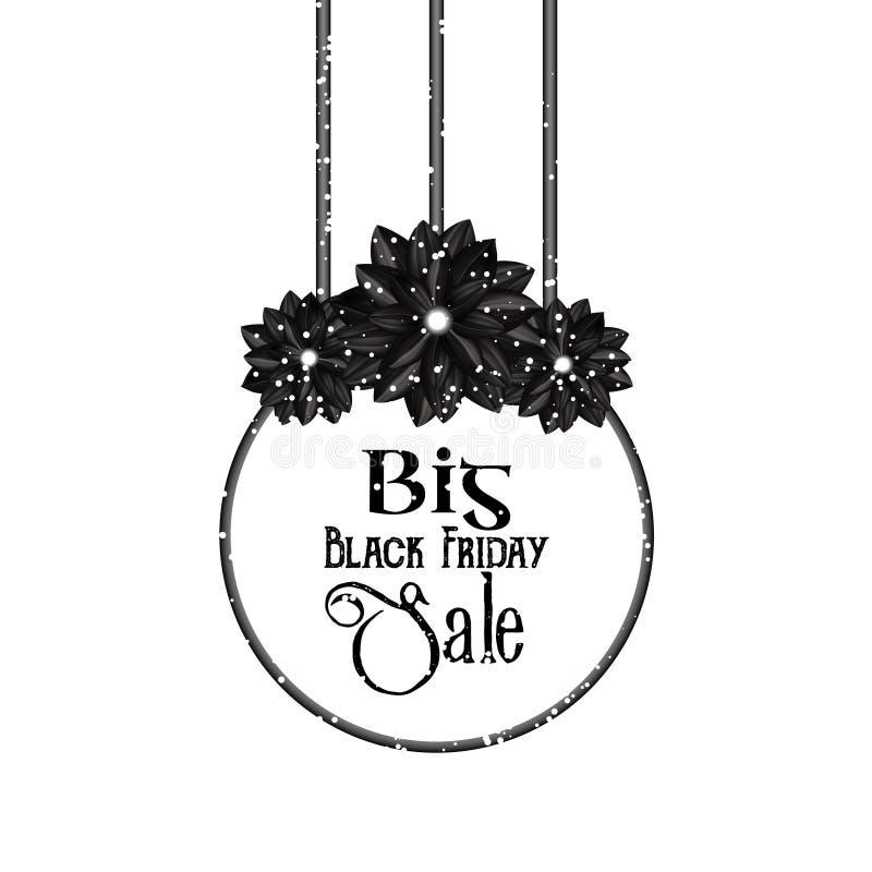 Großer schwarzer Freitag-Verkauf Elegantes Florenelement in einer gotischen Art Nette Auslegungselemente für Ihre besten kreative lizenzfreie abbildung