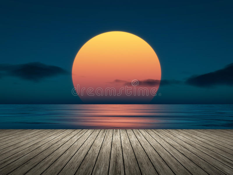 Großer Sonnenuntergang vektor abbildung