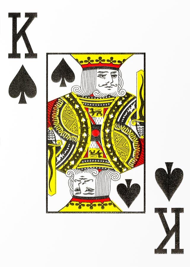Großer Spielkartekönig des Index von Spaten vektor abbildung