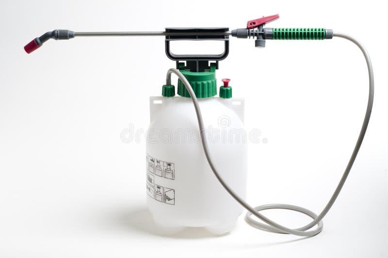 Großer Spraybehälter und -düse stockbilder