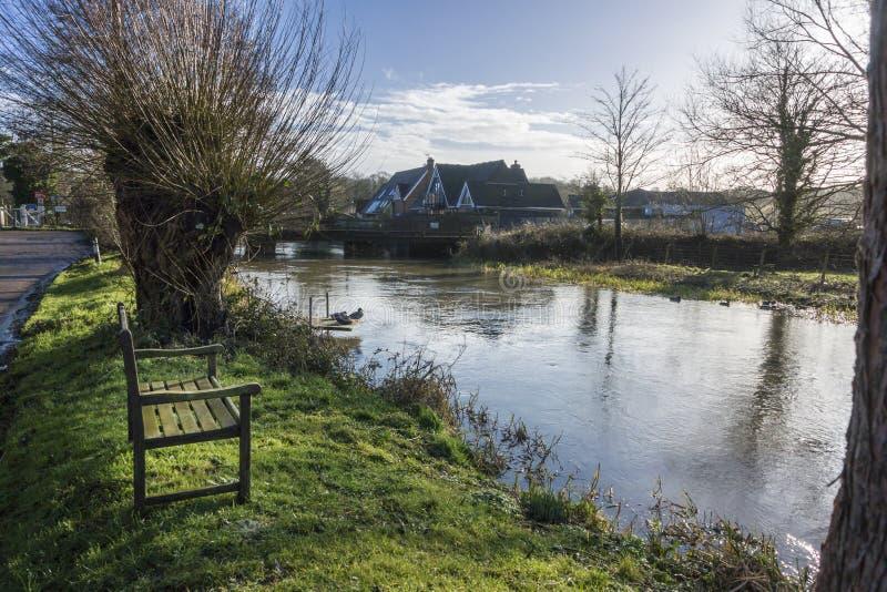Großer Stour-Fluss, Chartham, Kent, Großbritannien stockfotos