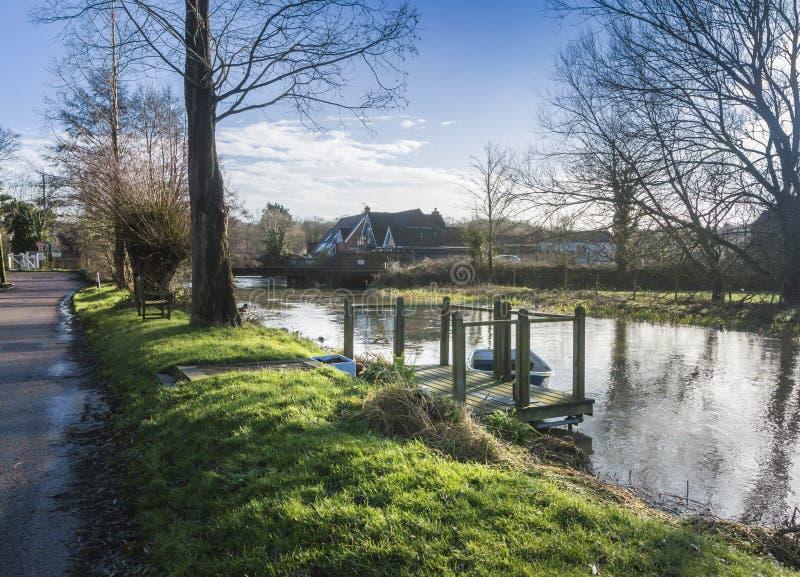Großer Stour-Fluss, Chartham, Kent, Großbritannien lizenzfreie stockfotografie