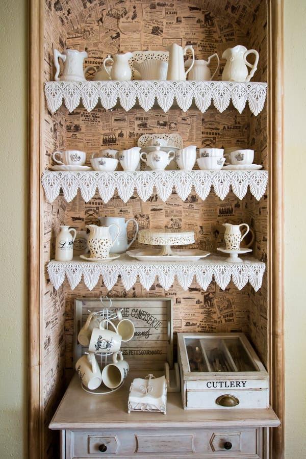 Großer Teesatz stockfoto