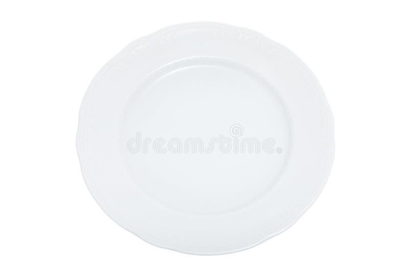 Großer Teller mit Ausschnittspfad stockfotos