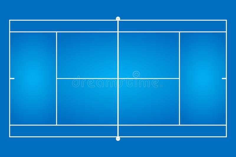 Großer Tennisplatz stock abbildung