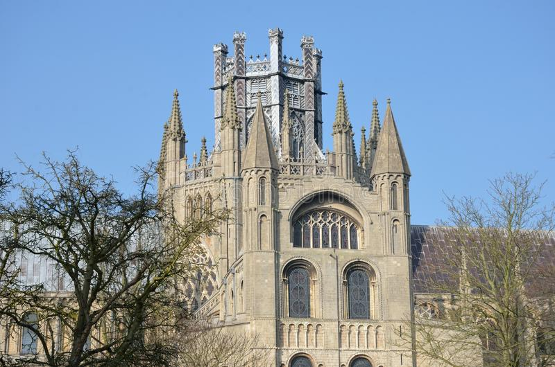 Großer Turm Ely-Kathedrale stockfotos