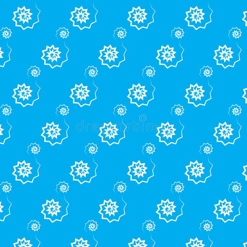 Großer und kleiner Musterblauhintergrund der weißen Zickzackspirale vektor abbildung