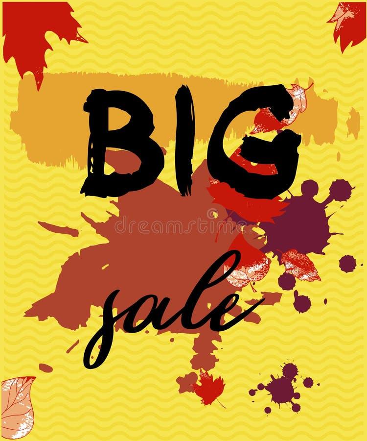 Großer Verkauf TText, vertikale Fahnen des Rabattes Schmutzelemente, Tinte f?llt, abstrakter Hintergrund Auch im corel abgehobene lizenzfreie abbildung