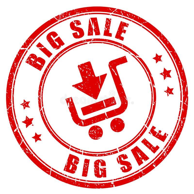 Großer Verkaufseinkaufsstempel lizenzfreie abbildung