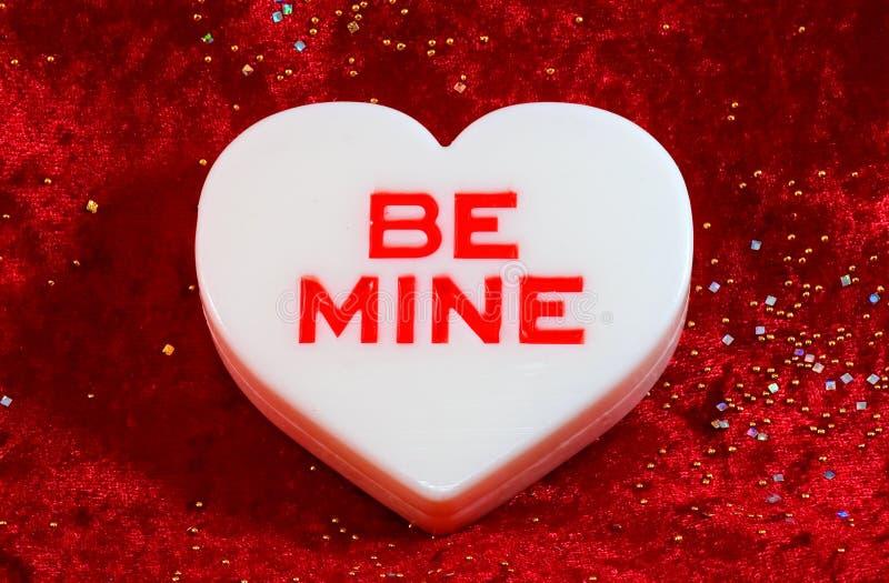 Großer weißer Valentinsgruß stockfoto