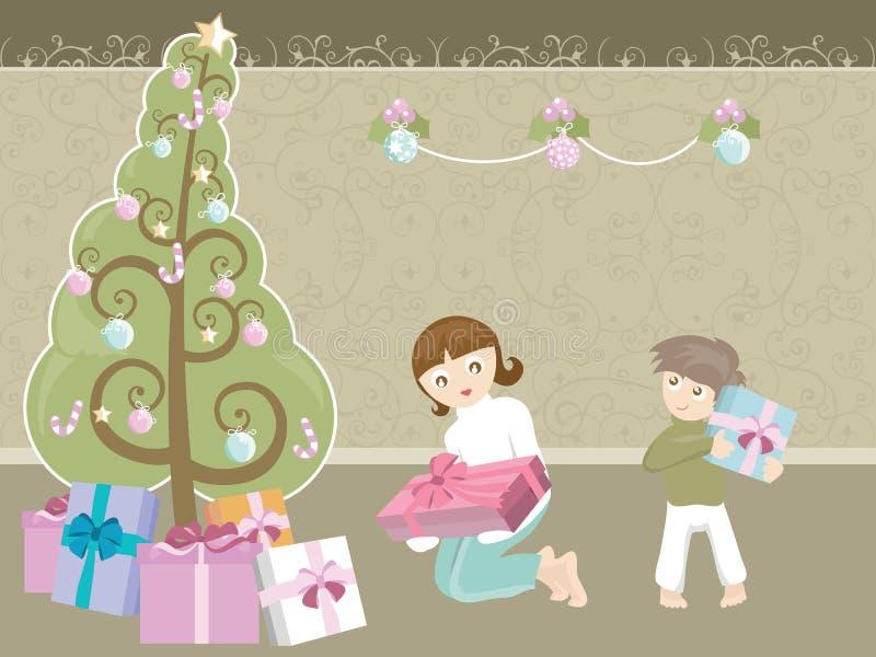 Großer Weihnachtsbaum lizenzfreie abbildung