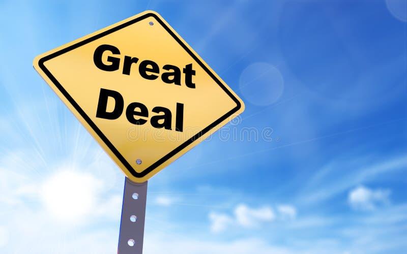 großes Abkommenzeichen stock abbildung