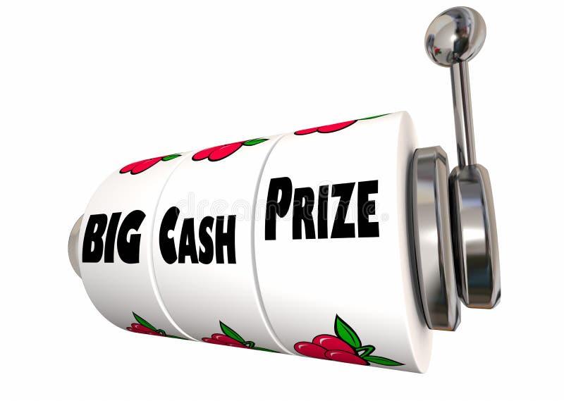 Großes Bargeld-Prize Lotterie-Jackpot-Gewinne-Spielautomat stock abbildung