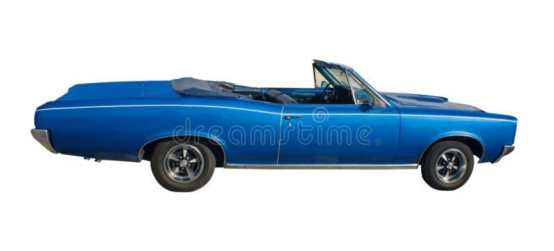 Großes blaues Kabriolett stockfotos