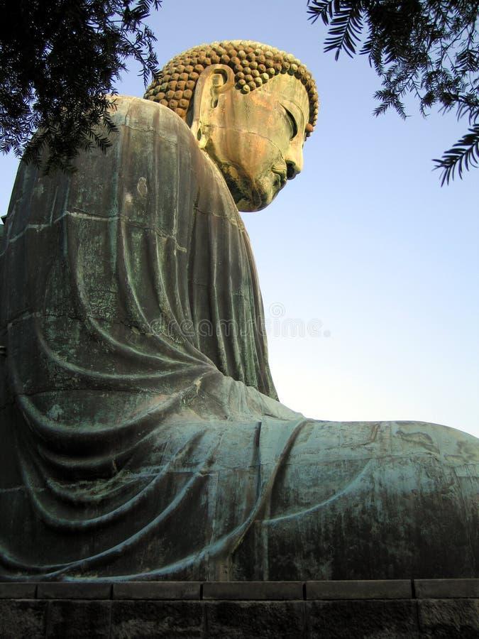 Großes Buddha sideview lizenzfreies stockbild