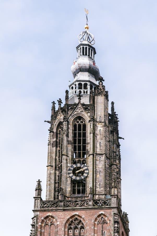 Großes churchr von Amersfoort die Niederlande stockbild