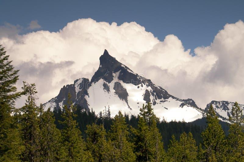 Großes Cowhorn Mt. Thielsen ausgestorbene Volcano Oregon Cascade Range Mo stockfoto