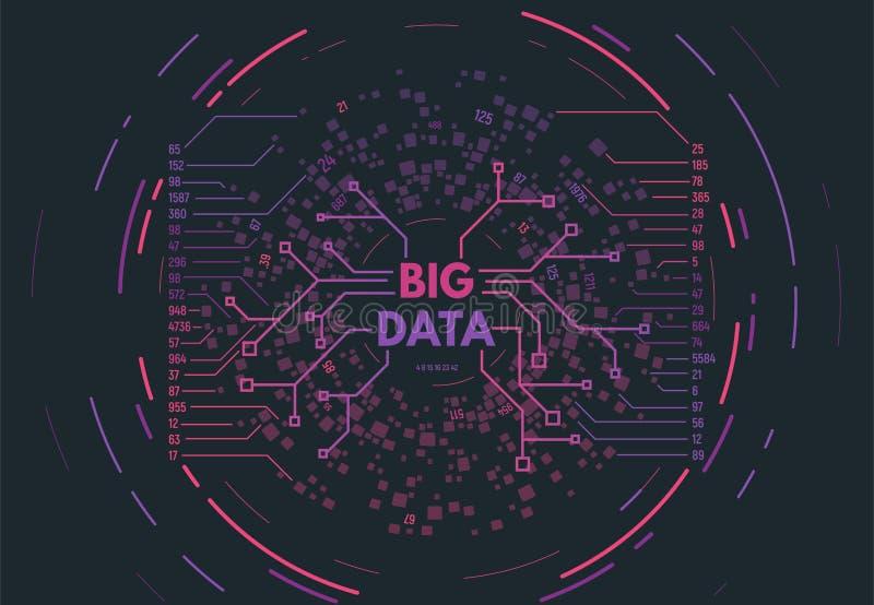 Großes Datenkonzept lizenzfreie abbildung