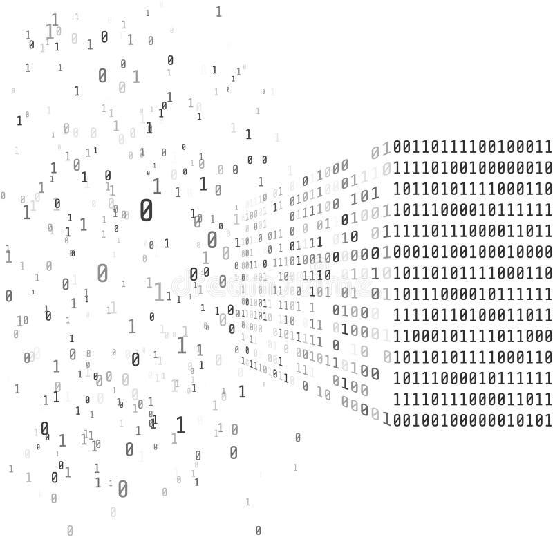 Großes Datenkonzept Binärer Matrixcode Intelligentes System der künstlichen Intelligenz vektor abbildung
