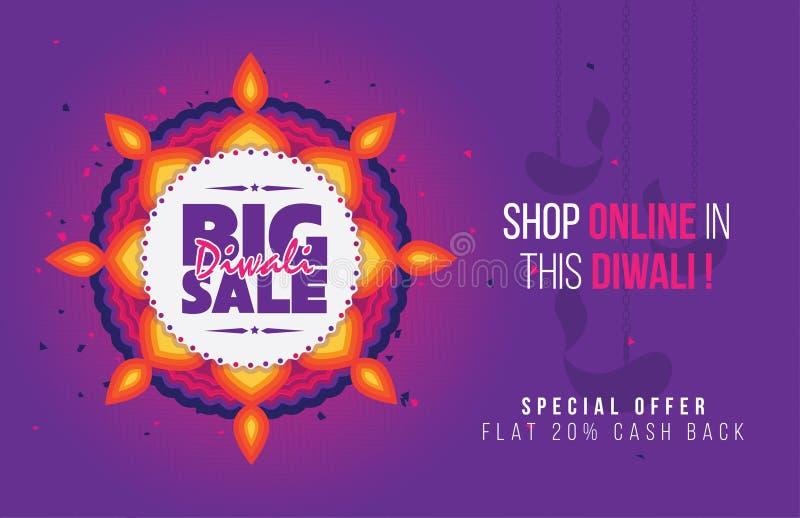 Großes Diwali-Verkaufs-Plakat vektor abbildung