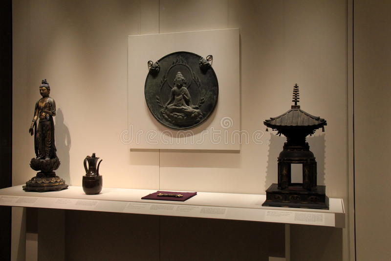 Großes Einkommen mit Reihe orientalischen Schätzen, Cleveland Art Museum, Ohio, 2016 stockfotografie