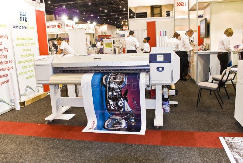 Großes Format-Digital-Tintenstrahl-Drucker - XEROX stockbilder