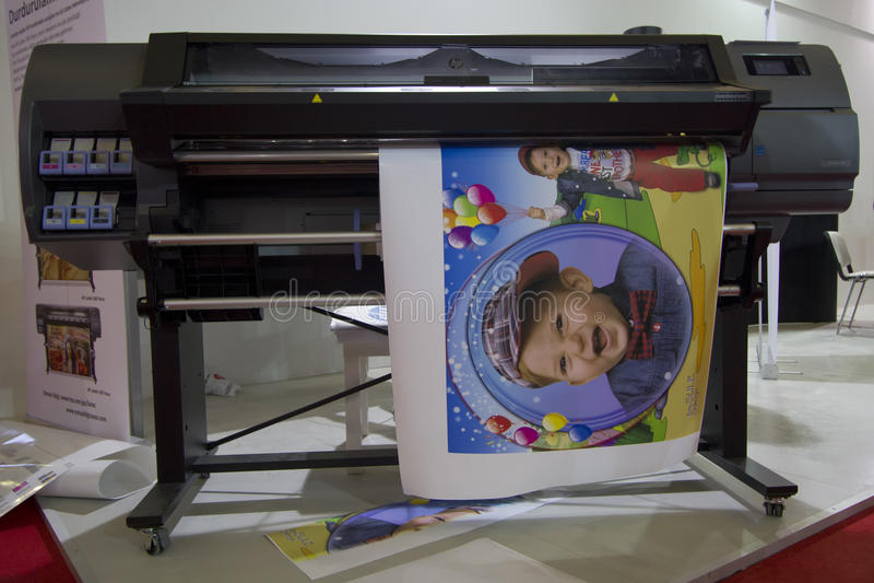Großes Format-Digitaldrucker lizenzfreie stockfotos