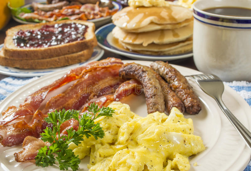 Großes Frühstück lizenzfreie stockfotos