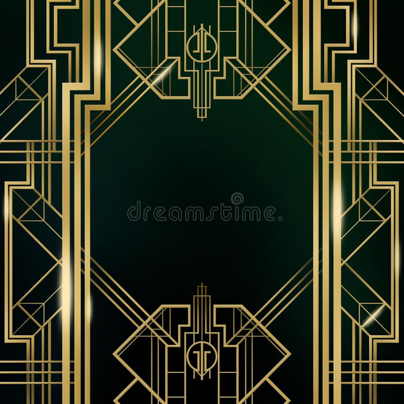 Großes Gatsby-Film-Inspirations-Film-Hintergrund-Hintergrund-Plakat lizenzfreie abbildung