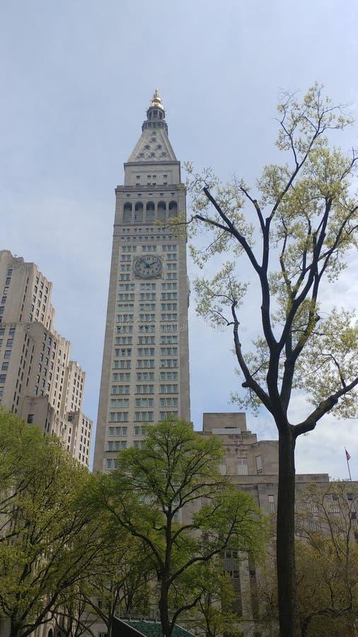 Großes Gebäude - Ansicht vom Central Park, NYC lizenzfreies stockbild