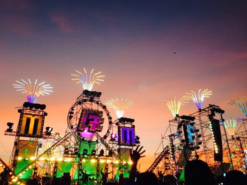 Großes Gebirgsmusikfestival lizenzfreies stockfoto